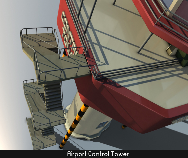 airport control tower 5 3d model 3ds max fbx obj 116795