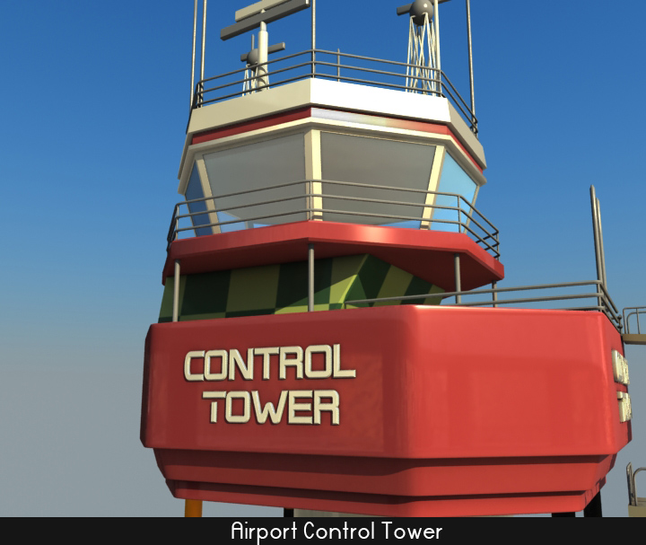 airport control tower 5 3d model 3ds max fbx obj 116796