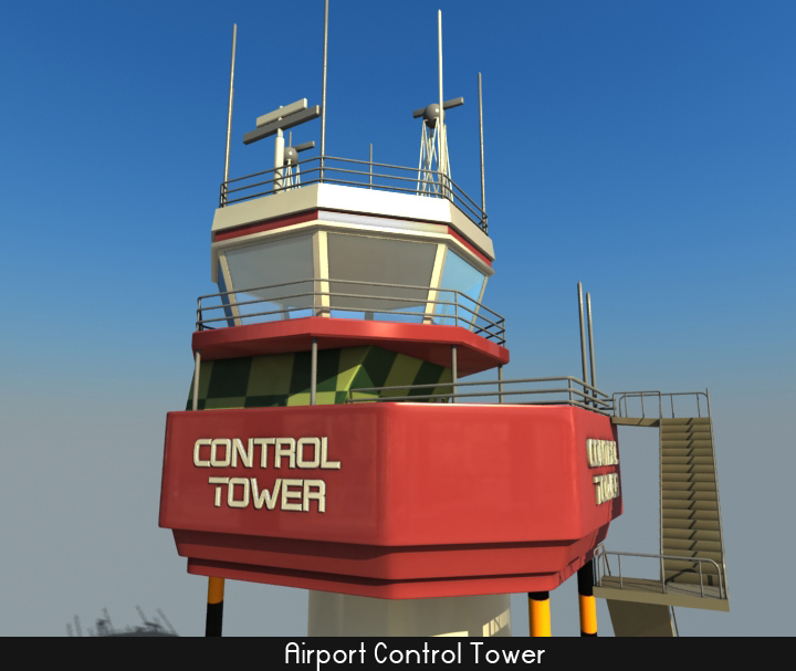 airport control tower 5 3d model 3ds max fbx obj 116797
