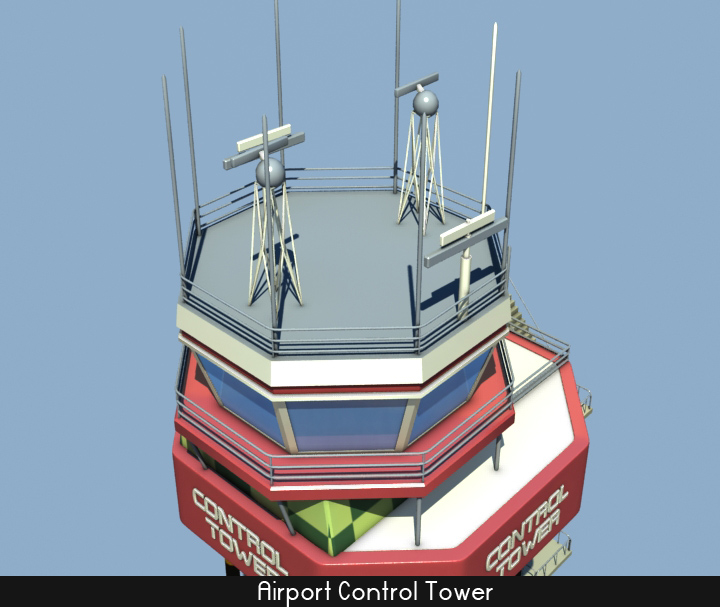 airport control tower 5 3d model 3ds max fbx obj 116798