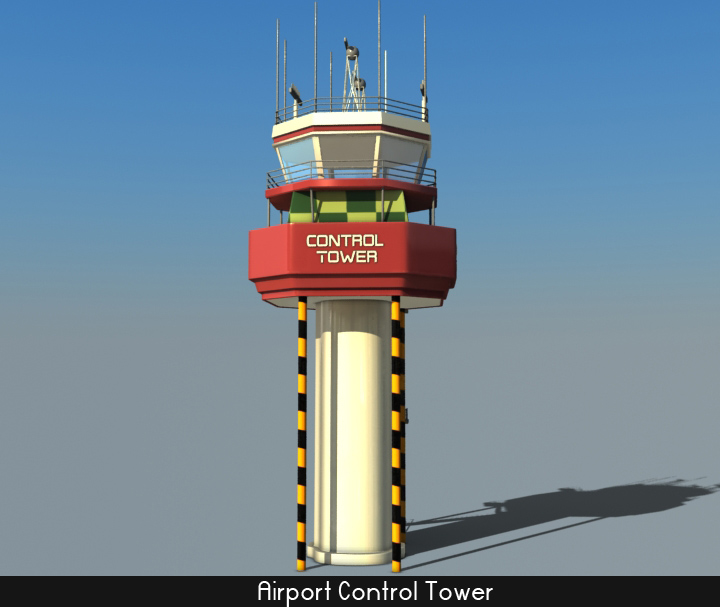 airport control tower 5 3d model 3ds max fbx obj 116799