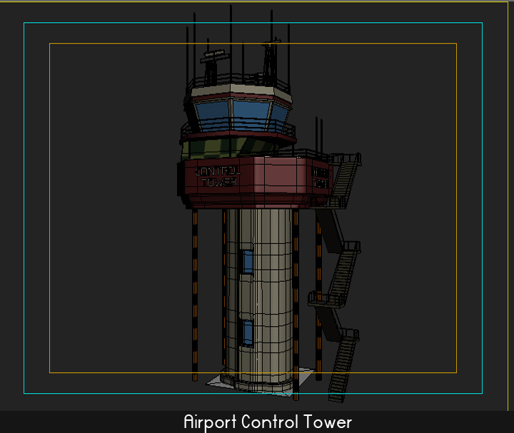 airport control tower 5 3d model 3ds max fbx obj 116802