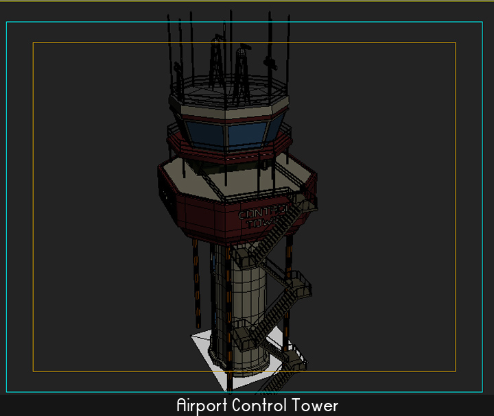 airport control tower 5 3d model 3ds max fbx obj 116803