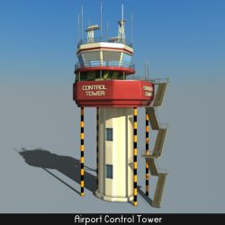 Airport Control Tower  ( 140.51KB jpg by Saffan )