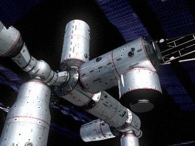 space station v4 3d model 3ds hrc xsi obj 128003