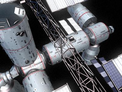 space station v4 3d model 3ds hrc xsi obj 128004