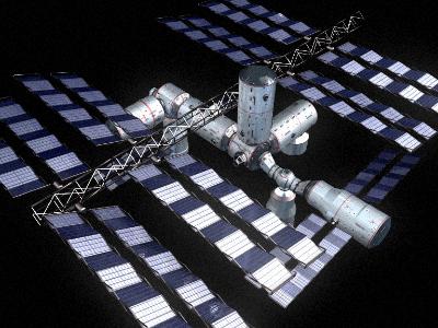 space station v4 3d model 3ds hrc xsi obj 128005