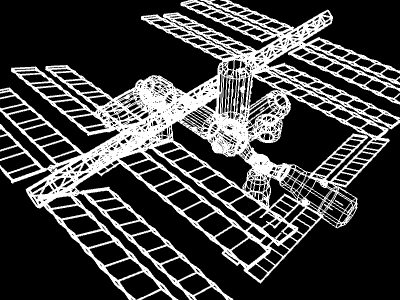 space station v4 3d model 3ds hrc xsi obj 128006