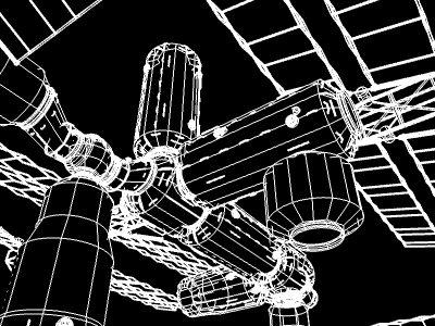 space station v4 3d model 3ds hrc xsi obj 128007