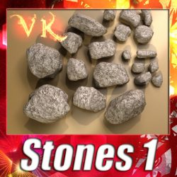 3D Model Stones 01 ( 136.44KB jpg by VKModels )