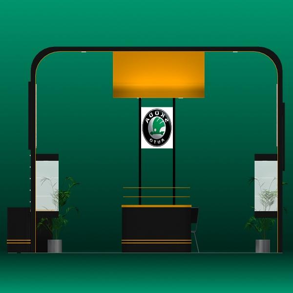 exhibit booth design 021 3d model 3ds max dxf dwg fbx c4d ma mb hrc xsi texture obj 118510