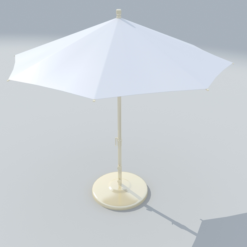 patio umbrella and stand 3d model 3ds max dxf fbx obj 114883