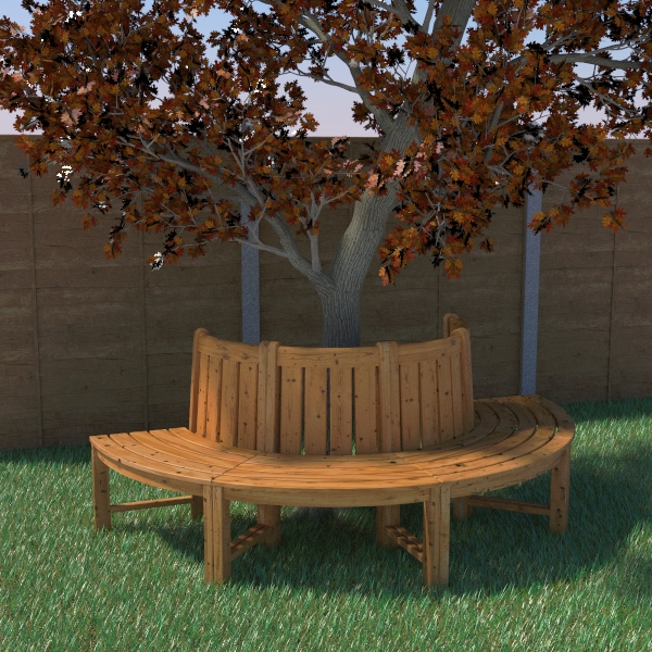 tree seat 3d model 3ds fbx skp obj 113484