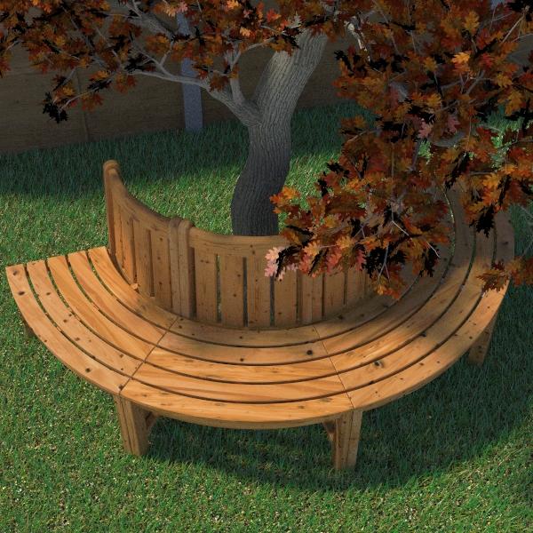 tree seat 3d model 3ds fbx skp obj 113485