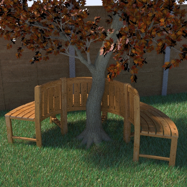 tree seat 3d model 3ds fbx skp obj 113486