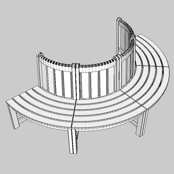 tree seat 3d model 3ds fbx skp obj 113487