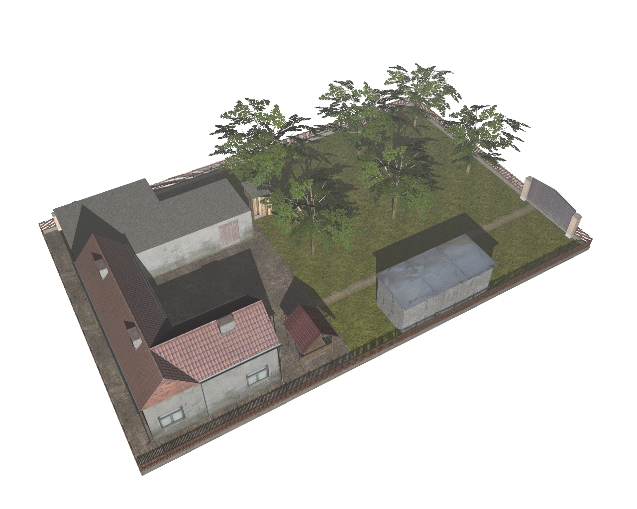 rural household 3d model 3ds 164888