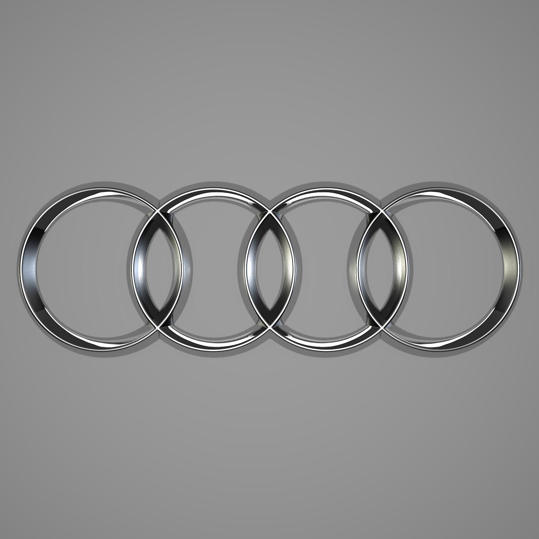 Audi Logo D Model Collections Of D Models Blend Obj AR VR - Audi logo