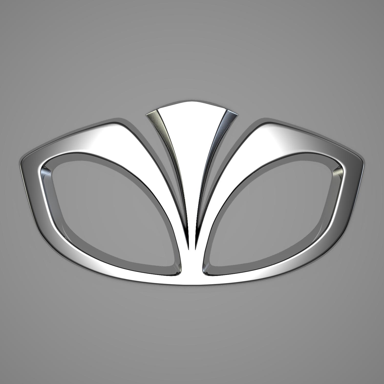 daewoo logo 3d model blend obj 116198