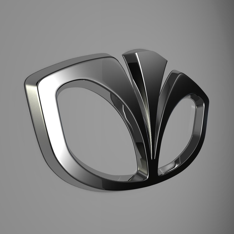 daewoo logo 3d model blend obj 116199