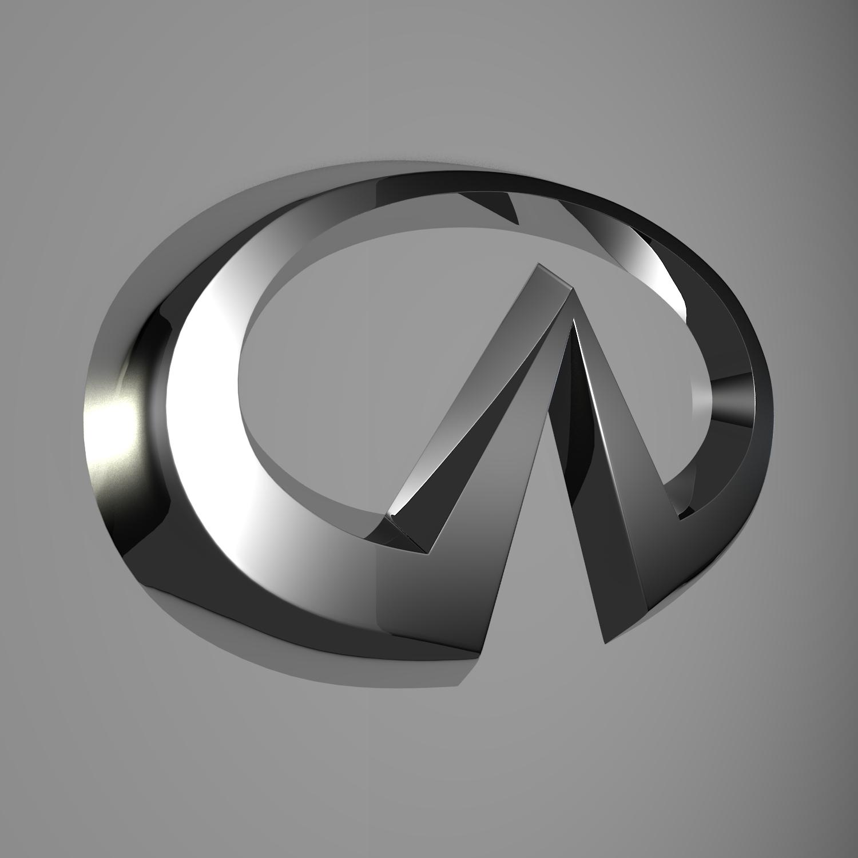 infiniti logo 3d model blend obj 116184