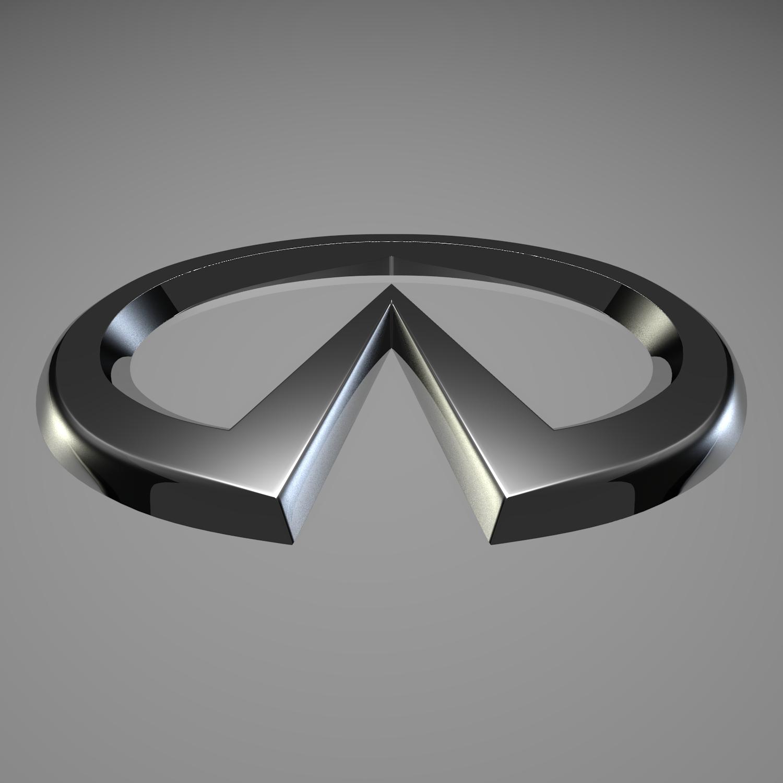 infiniti logo 3d model blend obj 116185