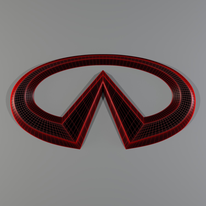 infiniti logo 3d model blend obj 116186