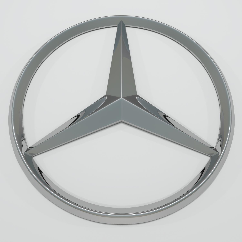 mercedes logo 3d model blend obj 116202