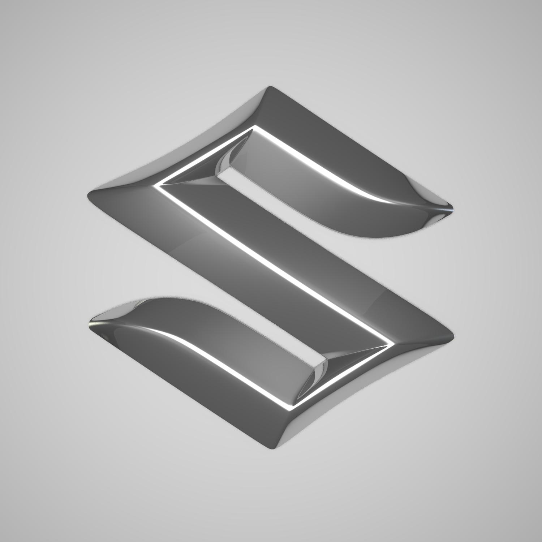 suzuki logo 3d model blend obj 116179