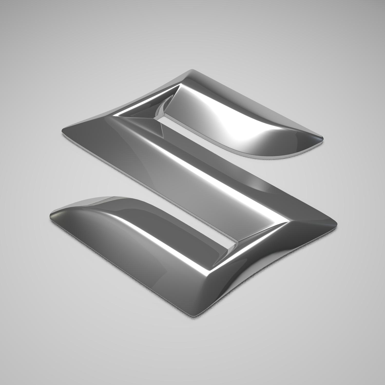 suzuki logo 3d model flatpyramid
