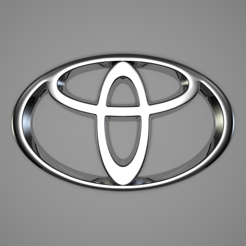 toyota logo 3d model blend obj 116171