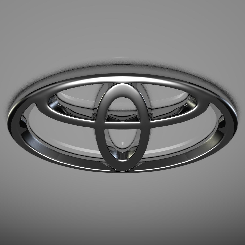 toyota logo 3d model blend obj 116173