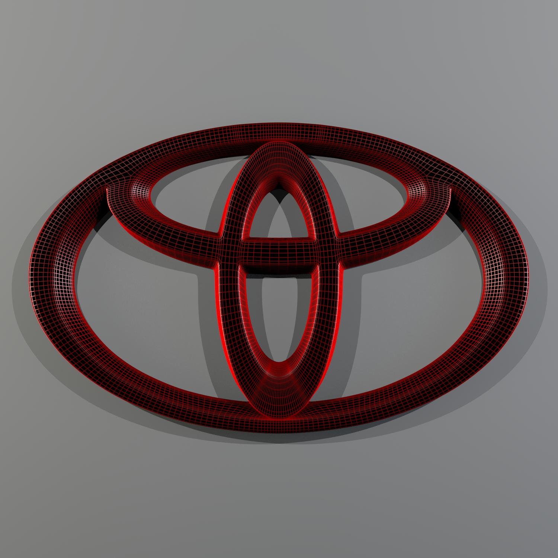 toyota logo 3d model blend obj 116174
