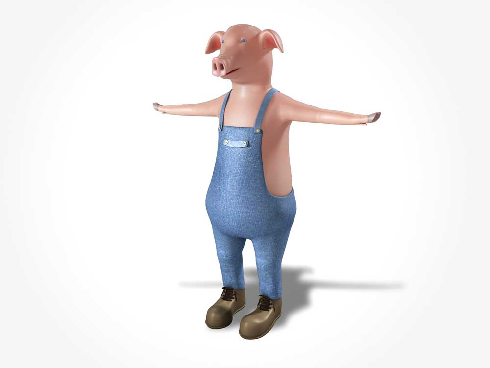 big pig 3d model 3ds fbx ma mb obj 113588