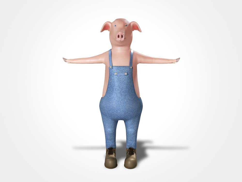 big pig 3d model 3ds fbx ma mb obj 113590