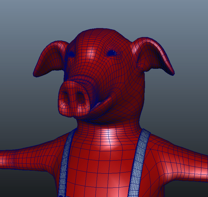 big pig 3d model 3ds fbx ma mb obj 113592