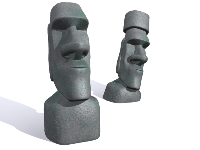 easter island moai 3d model 3ds maks fbx 157449