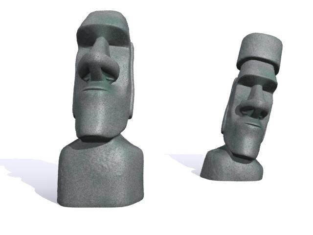 Улаан өндөгний арал moai 3d загвар 3ds max fbx 157450