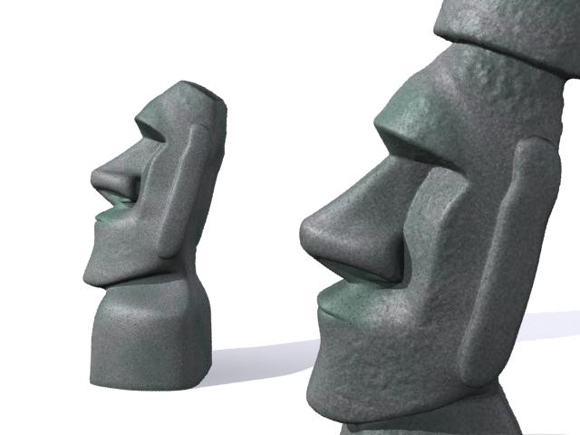 Улаан өндөгний арал moai 3d загвар 3ds max fbx 157451