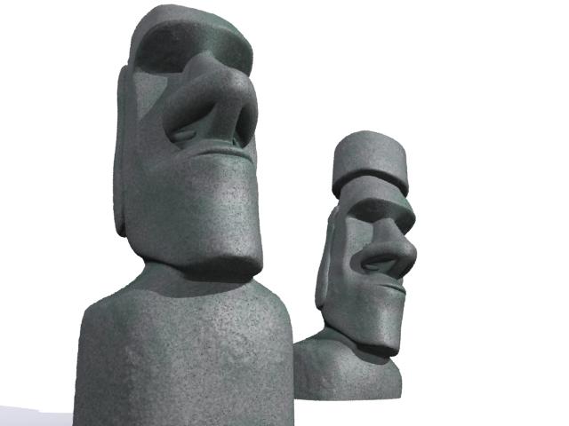 Улаан өндөгний арал moai 3d загвар 3ds max fbx 157452