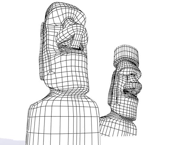 Улаан өндөгний арал moai 3d загвар 3ds max fbx 157453