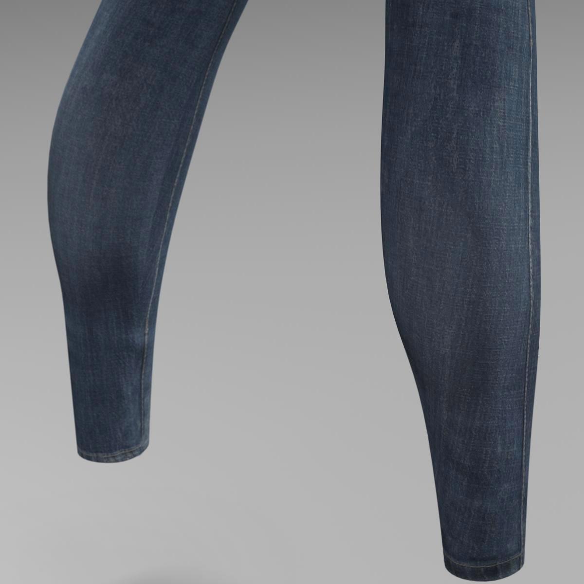 female jeans 3d model 3ds max fbx c4d ma mb obj 160407
