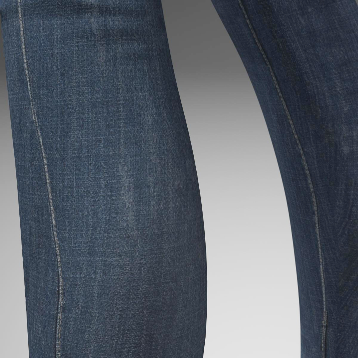 female jeans 3d model 3ds max fbx c4d ma mb obj 160410