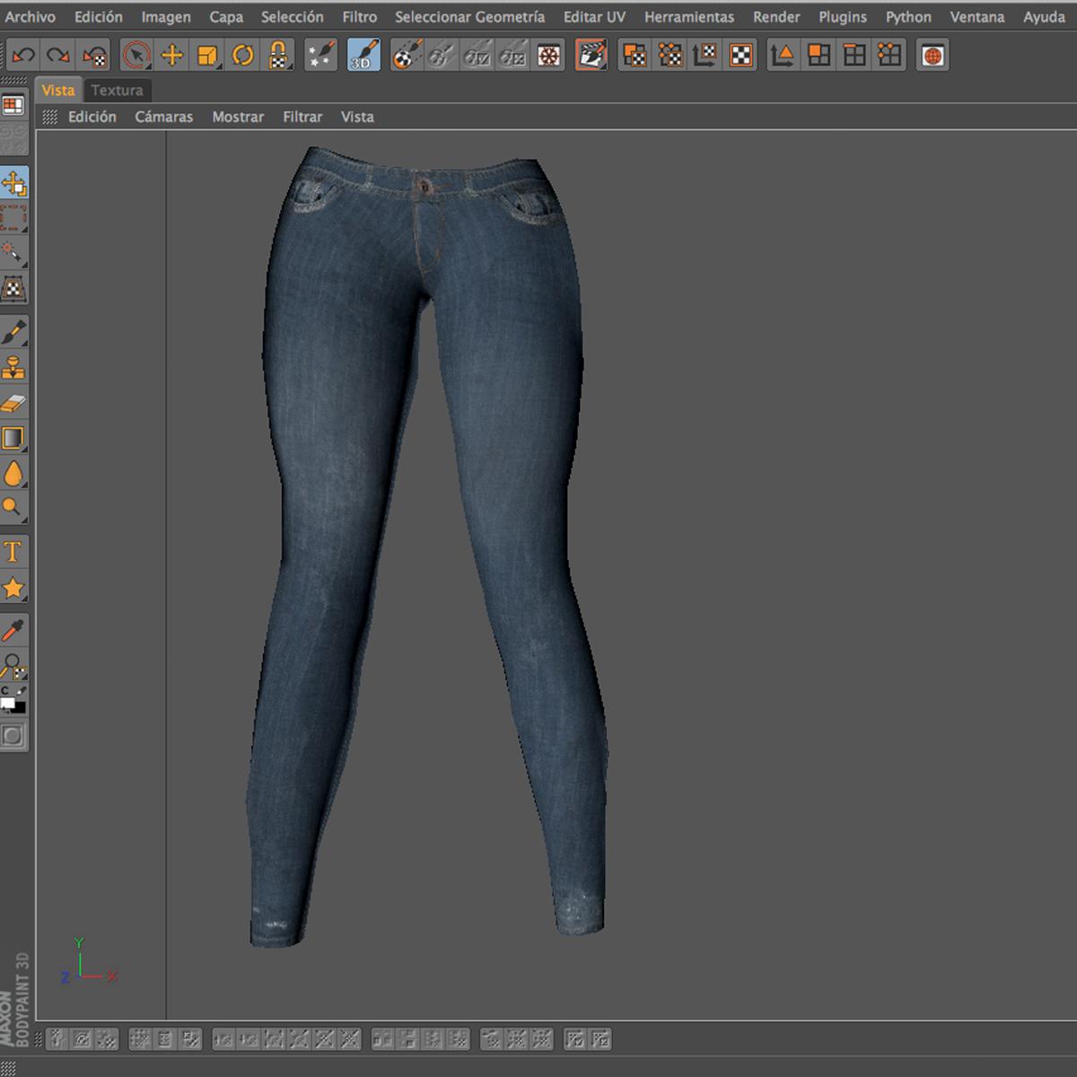 female jeans 3d model 3ds max fbx c4d ma mb obj 160414