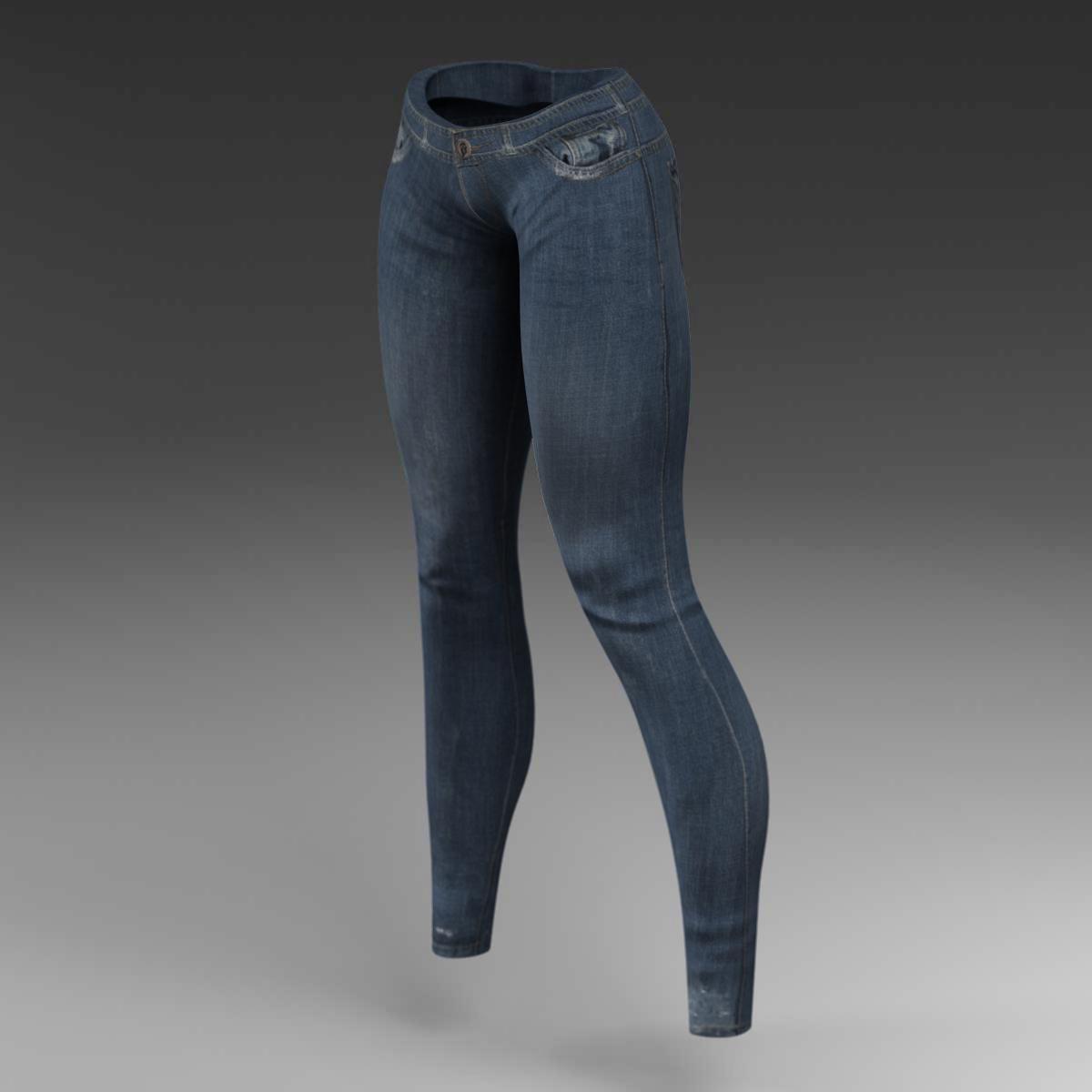 Female jeans 3d model 3ds max fbx c4d ma mb obj 160401