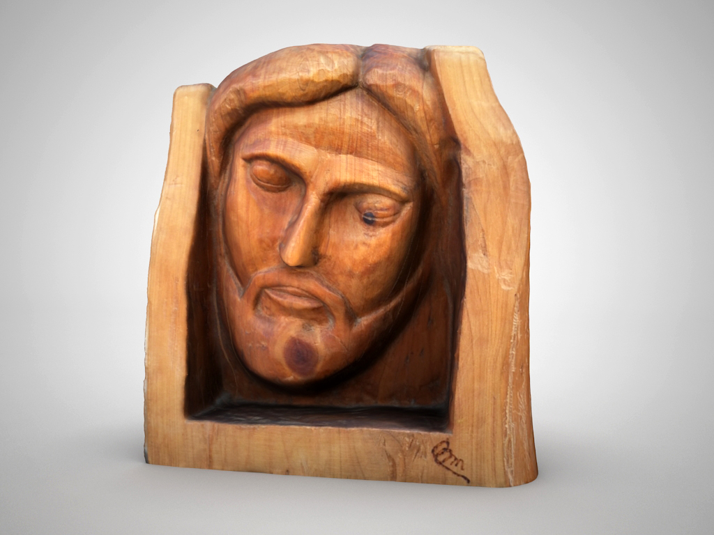 jesus head sculpture 3d model max 147810