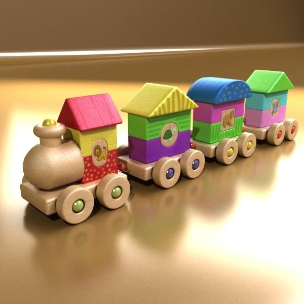 koka rotaļlietu vilciens augsts res 3d modelis 3ds max fbx obj 131755