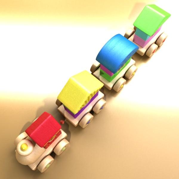 koka rotaļlietu vilciens augsts res 3d modelis 3ds max fbx obj 131757