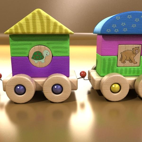 koka rotaļlietu vilciens augsts res 3d modelis 3ds max fbx obj 131758