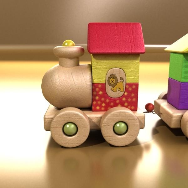 koka rotaļlietu vilciens augsts res 3d modelis 3ds max fbx obj 131759